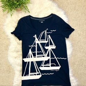 Tommy Hilfiger Sail Boat Graphic V-Neck Tee MP
